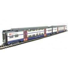 Coffret Wagons  Régional SBB-ZW deux étages CC/AC HO Dosto  Liliput