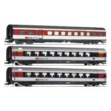 Coffret de Wagons CFF-SBB  3 Wagons  HO Roco